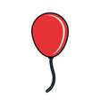 balloon red vector image