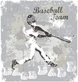 baseball hit vector image vector image