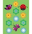 birds butterflies ladybirds vector image vector image