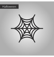 black and white style icon spiders web vector image