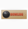 black ball on the alley for bowling game vector image vector image