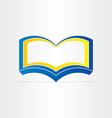 blue open book symbol vector image vector image