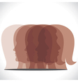 brown men women head icon vector image vector image