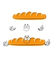 Cartoon long loaf of wheat bread vector image vector image