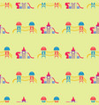 children playground fun childhood seamless pattern vector image vector image
