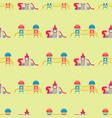 children playground fun childhood seamless pattern vector image