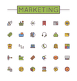 Colored Marketing Line Icons vector image vector image