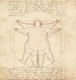 Conceptual modern Vetruvian man basis of artwork