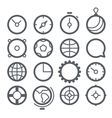 Different Web icons set isolated on white vector image vector image