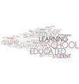educated word cloud concept vector image vector image