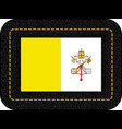 flag of vatican city icon on black leather vector image