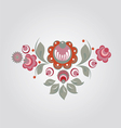 floral russian style pattern vector image vector image