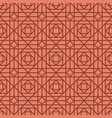 geometric linear red retro pattern vector image vector image