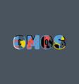 gmos concept word art vector image