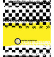 grunge checkered racing background vector image vector image