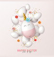 happy easter holiday card vector image vector image