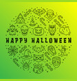 happy halloween card gradient app background vector image