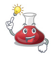 have an idea red wine decanter isolated on mascot vector image