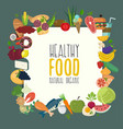 healthy food design with flat food vector image vector image