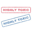 highly toxic textile stamps vector image vector image