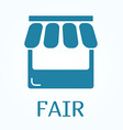 Icon or sign of fair in flat style vector image vector image