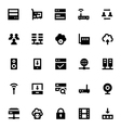 Internet Networking and Communication Icons 1 vector image vector image