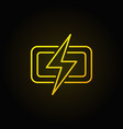 Lightning colorful icon vector image