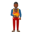 Man holding baby in sling vector image