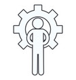 man pictogram cartoon vector image