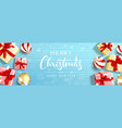 merry christmas and happy new year banner vector image vector image