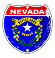 nevada flag icons as interstate sign vector image vector image