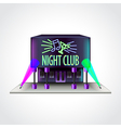Night club building isolated vector image vector image