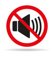 no sound sign on white background vector image vector image