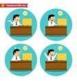 Office worker at the desk vector image vector image