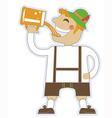 oktoberfest man with glasses of beer german vector image vector image