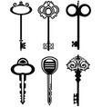 ornamental vintage keys with intricate forging vector image