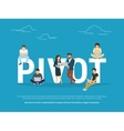 Pivot concept of business people vector image vector image