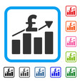 pound business chart framed icon vector image vector image