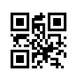 qr code i love you eps 10 vector image