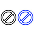 restriction icon vector image vector image