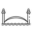 river city bridge icon outline style vector image vector image