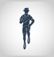 run running man icon logo vector image vector image