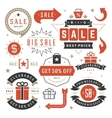 Sale Tags and Labels Design Vintage Set for vector image
