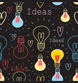 seamless pattern with light bulbs vector image vector image