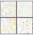 Set of floral seamles patterns vector image vector image
