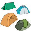 set of tent vector image