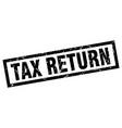 square grunge black tax return stamp vector image vector image