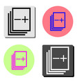 stack of papers flat icon vector image vector image