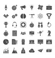 startup solid web icons vector image vector image