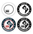 state washington dc logo vector image vector image